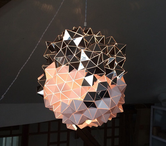 Geometric Handmade Sculptural Lamp by Britta Gould